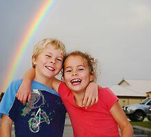 Rainbow children by Ruth Tinley