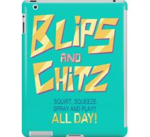 Blips and Chitz Il (text) iPad Case/Skin