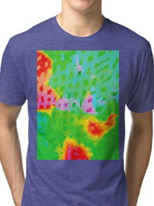 Colorful Abstract Watercolor Painting Background Tri-blend T-Shirt