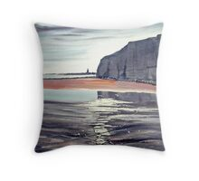 From Dane's Dyke over the Bay Throw Pillow
