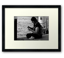 Gypsy woman with the Bait Framed Print