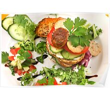 Salad and Bavarian Chicken Burger  Poster