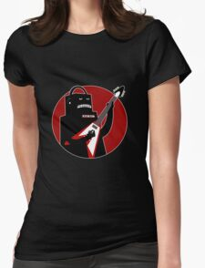 Badbot in Black and Red Womens Fitted T-Shirt
