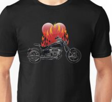 Burning Biker Love Unisex T-Shirt