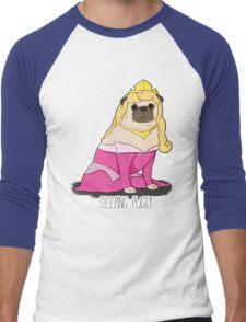 Sleeping Pugly Make it Pink! Men's Baseball ¾ T-Shirt