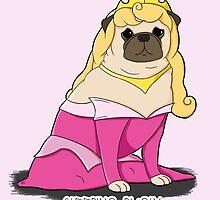 Sleeping Pugly Make it Pink! by jennisney