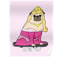 Sleeping Pugly Make it Pink! Poster