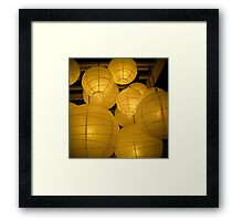 lanterns 2 Framed Print