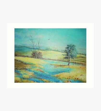 Lavanda Field Art Print