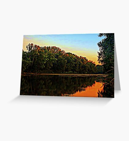 East Bank of the Little Miami River Greeting Card