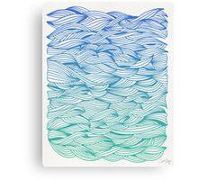 Ombré Waves Canvas Print