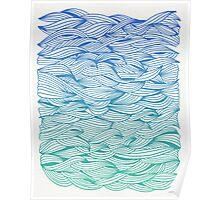 Ombré Waves Poster