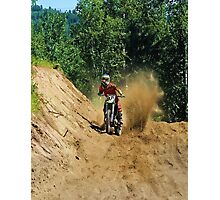 Dirty Tricks (Dirt Bike Racing) Photographic Print