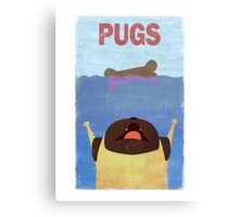 PUGS Fake Movie Poster Canvas Print