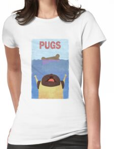 PUGS Fake Movie Poster Womens Fitted T-Shirt