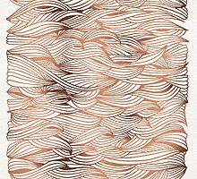 Rose Gold Waves by Cat Coquillette