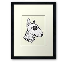 Tattooed Bullterrier Framed Print