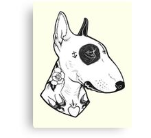 Tattooed Bullterrier Canvas Print