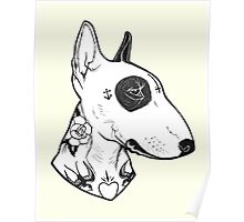 Tattooed Bullterrier Poster