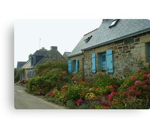 Flowered Cottages Canvas Print