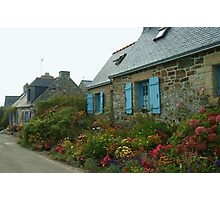 Flowered Cottages Photographic Print