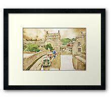 Skipton Canal Barges Framed Print