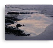 Clouds in the Tidal Pool Canvas Print