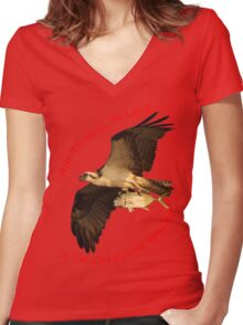 Air Travel is Like Women's Fitted V-Neck T-Shirt