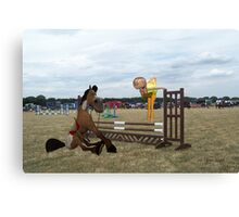 You Will Jump This Fence Canvas Print