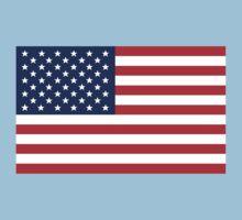 US Flag Baby Tee