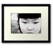 Korean Doll Framed Print