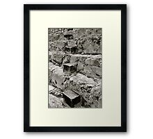 Steps in Steps Framed Print