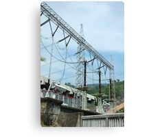 water power plant Canvas Print