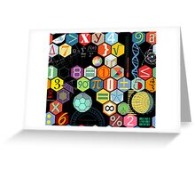 Math in black! Greeting Card