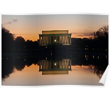 Lincoln Memorial Sunset Poster