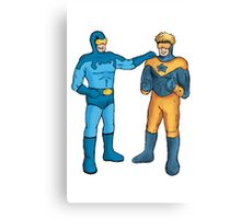 Booster Gold and Blue Beetle Canvas Print