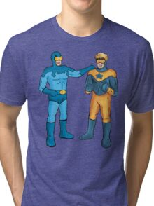 Booster Gold and Blue Beetle Tri-blend T-Shirt