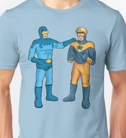 Booster Gold and Blue Beetle Unisex T-Shirt