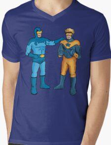 Booster Gold and Blue Beetle Mens V-Neck T-Shirt