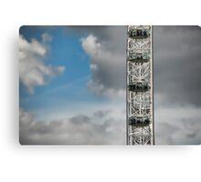 The London Eye against azure sky Canvas Print