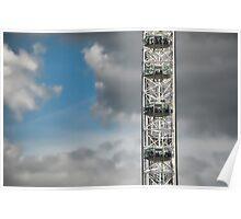 The London Eye against azure sky Poster