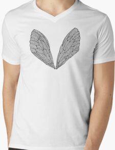 Black Cicada Wings Mens V-Neck T-Shirt