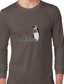 Robopenguin on the Rampage Long Sleeve T-Shirt