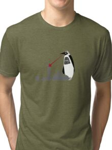 Robopenguin on the Rampage Tri-blend T-Shirt