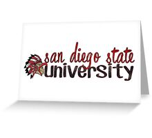 San Diego State Two Tone Greeting Card
