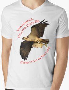 Warning: Pilots Can Be Mens V-Neck T-Shirt