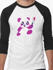 kawaii panda will KILL YOU!  Men's Baseball ¾ T-Shirt