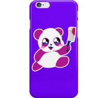 kawaii panda will KILL YOU!  iPhone Case/Skin