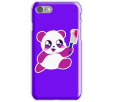 kawaii panda will KILL YOU!  iPhone Case/Skin