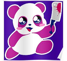 kawaii panda will KILL YOU!  Poster